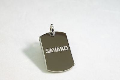 POLICE PENDANT NECKLACE DOG TAG PENDANT FREE ENGRAVING - Samstagsandmore