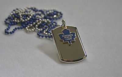 NHL TORONTO MAPLE LEAFS HOCKEY NECKLACE TAG ENGRAVED STAINLESS STEEL TAG