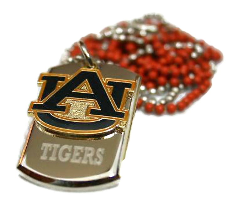 AUBURN UNIVERSITY  NECKLACE TAG PENDANT CHAIN STAINLESS STEEL DOG TAG - Samstagsandmore
