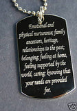 STAINLESS STEEL SILVER COLOR CANCER ZODIAC  SIGN TRAITS DOG TAG NECKLACE PENDANT - Samstagsandmore