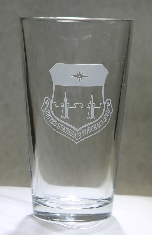 USMMA Merchant Marine Academy KP- Set of 4 - 16oz Pint Drink Glasses Custom Sand Carved USNA USAFA USMA USCGA graduation commencement - Samstagsandmore