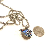 Tennesee Titans round small NFL stainless steel dog tag necklace ball chain pendant - Samstagsandmore