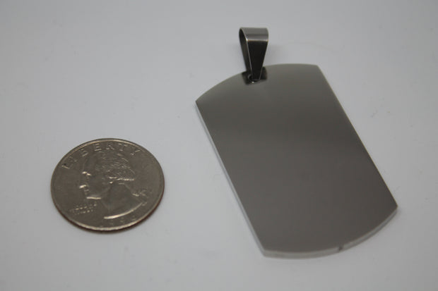 CUSTOM ENGRAVE SOLID STAINLESS STEEL THICK DOG TAG NO CHAIN - Samstagsandmore
