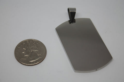 CUSTOM ENGRAVE SOLID STAINLESS STEEL THICK DOG TAG NO CHAIN