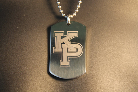 USMMA US MERCHANT MARINE ACADEMY KP KINGS POINT LOGO THICK STAINLESS STEEL DOG TAG