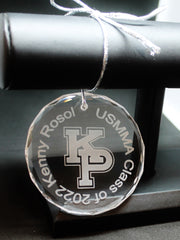 USMMA United States  Merchant Marines KP Kings Point Crystal Ornament Customize graduation commencement USNA USAFA USCGA - Samstagsandmore