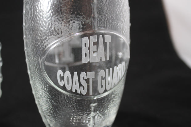 USMMA MERCHANT MARINE ACADEMY KP FOOTBALL GLASSES CUSTOM NAME SAND CARVED - Samstagsandmore