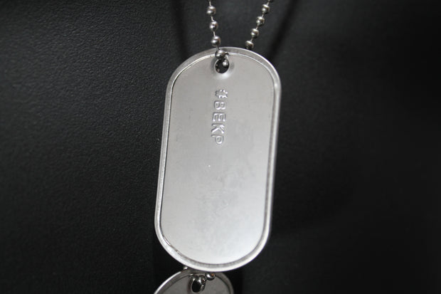 EMBOSSED GENUINE MILITARY DOG TAGS, MADE ON MILITARY MACHINE--USMMA #BEKP BEAT COAST GUARD - Samstagsandmore