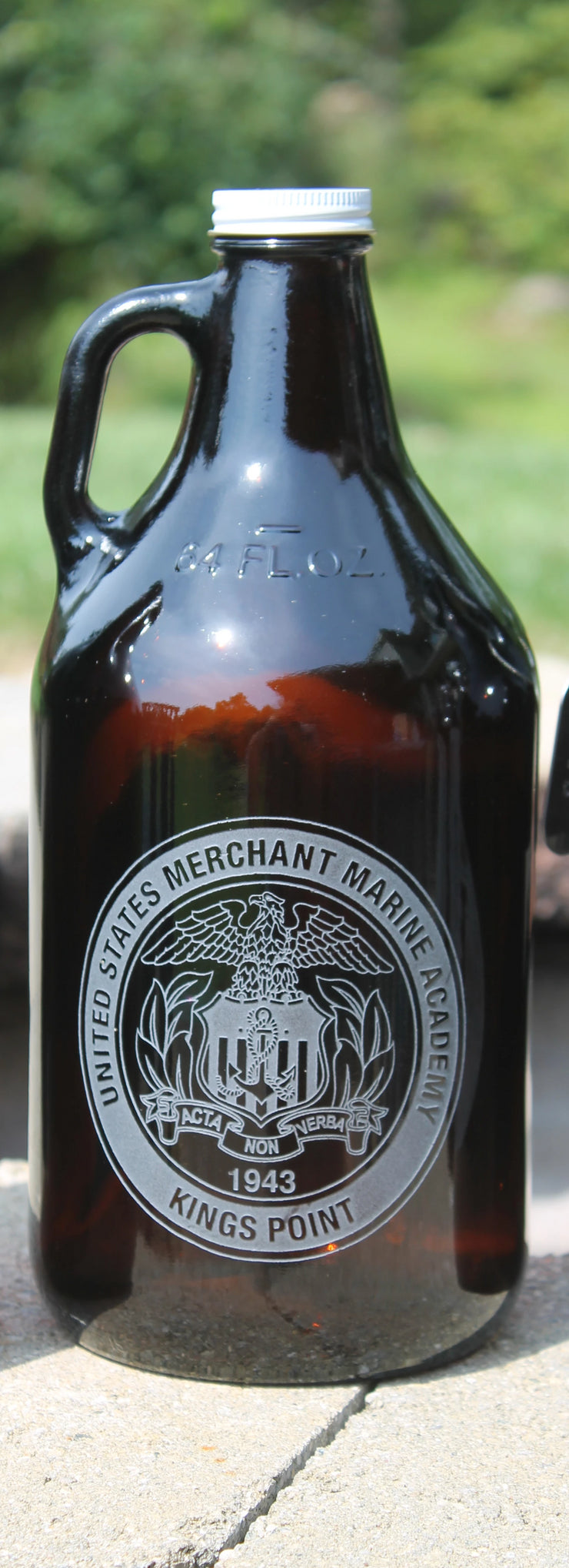 USMMA Merchant Marine Academy KP Growler Sand Carved Screw Cap graduation commencement USNA USAFA - Samstagsandmore