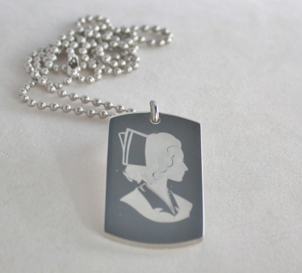 Nurse Image Retro and Nurse Prayer Dog Tag Necklace Pendant - Samstagsandmore