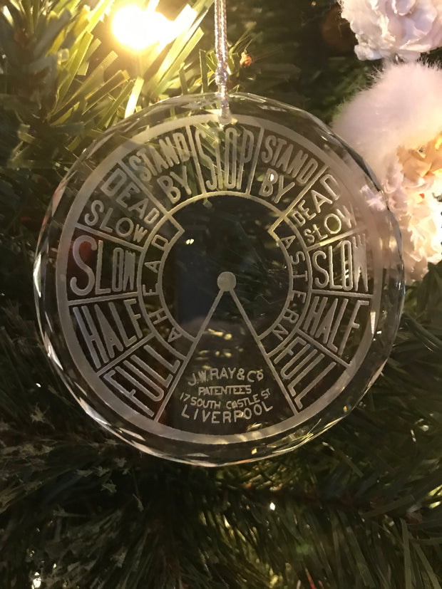 Crystal Ornament EOT Engine Order Telegraph Maritime Merchant Marine Nautical - Samstagsandmore