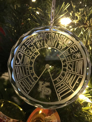 USMMA United States Merchant Marine KP Kings Point Crystal Ornament EOT Engine Order Telegraph - Samstagsandmore