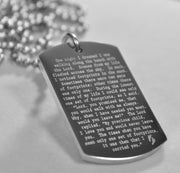 FOOTPRINTS PRAYER SOLID STAINLESS STEEL BALL CHAIN NECKLACE - Samstagsandmore
