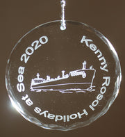USMMA United States  Merchant Marines KP Kings Point Crystal Ornament HOLIDAYS AT SEA - Samstagsandmore