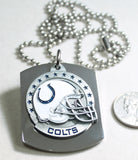 NFL INDIANAPOLIS COLTS  X LARGE PENDANT/HELMET ON THICK STAINLESS STEEL DOG TAG