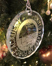 USAFA United States Airforce Academy Artificial Horizon Crystal Ornament - Samstagsandmore