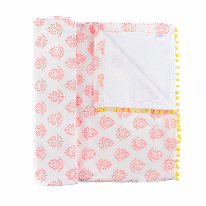 Pink Lotus Beach Blanket