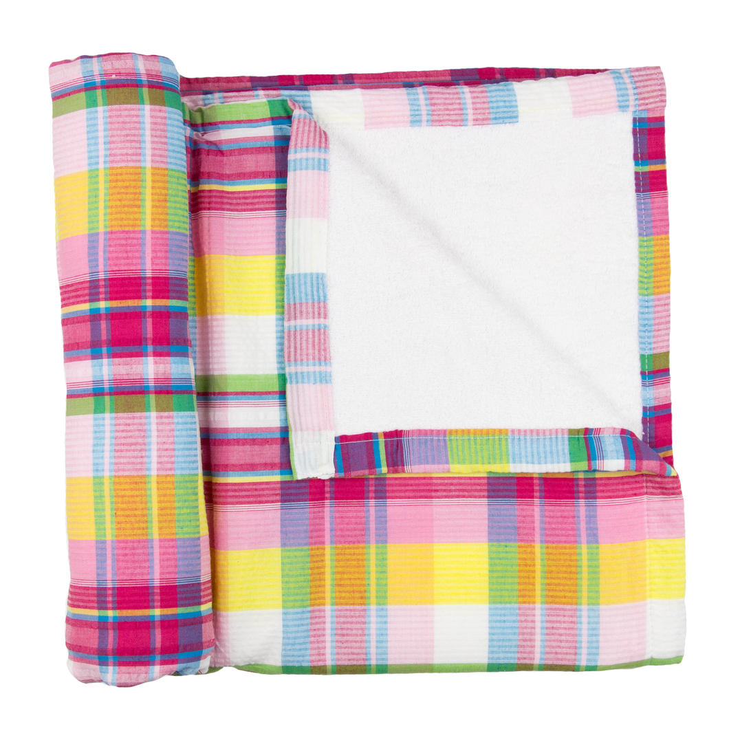 Multi-Coloured Gingham Beach Blanket