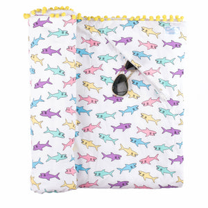 Multi Shark Beach Blanket