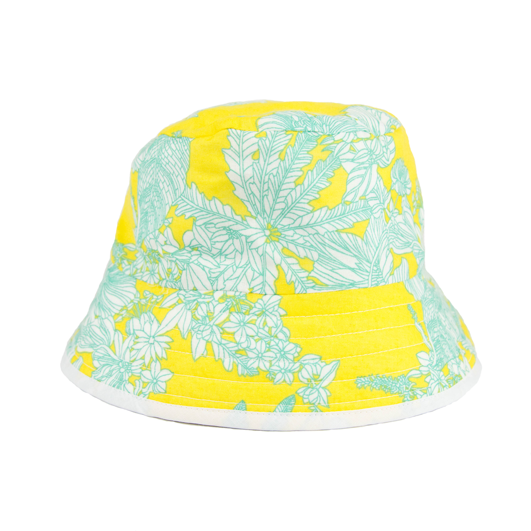 Yellow Floral Beach Lid