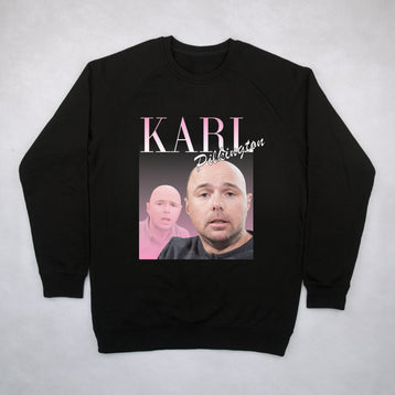 Classy Duds Jumpers Karl Pilkington Commemorative Classic Jumper