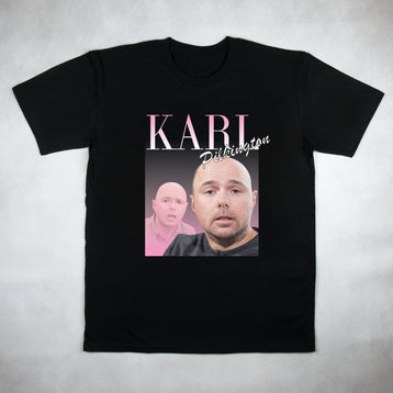 Classy Duds Short Sleeve T-Shirts Karl Pilkington Commemorative Classic Tee