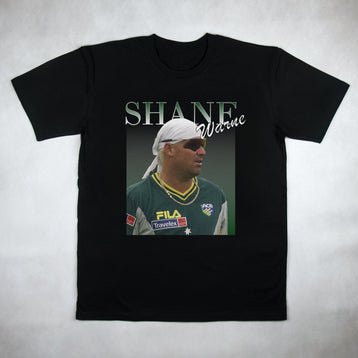 Classy Duds Short Sleeve T-Shirts Shane Warne Commemorative Classic Tee