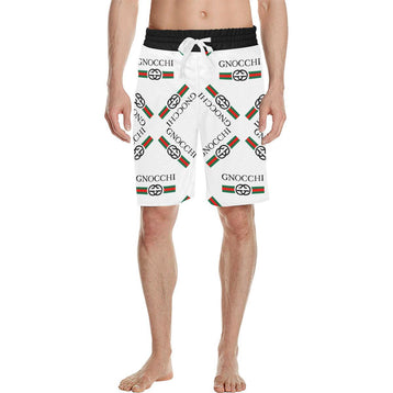 e-joyer Swimwear Gnocchi Vintage White Shorts Men's All Over Print Casual Shorts (Model L23)