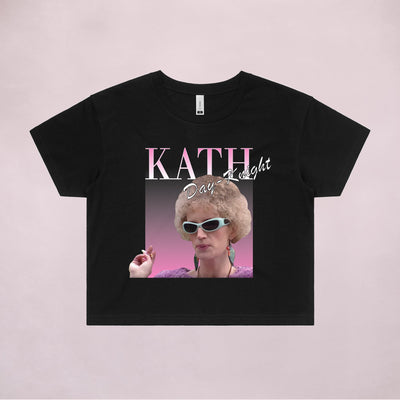 Ogo Merch Crop Tees Black / Extra Small Kath Day-Knight Commemorative Classic Black Crop Tee