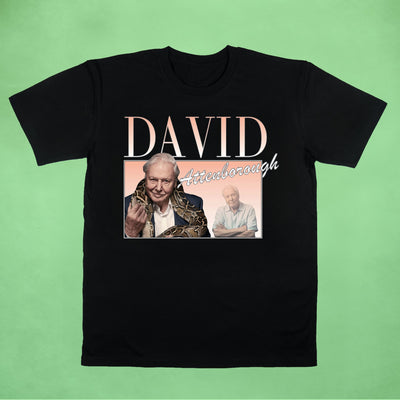 Ogo Merch Organic Tees Black / XXS David Attenborough Commemorative Classics Organic Tee