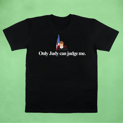 Ogo Merch Organic Tees Black / XXS Only Judy Can Judge Me Black Organic Tee