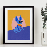 I love my 80s Chihuahua Art Print