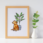 Dogs Love House Plants Too Wall Art