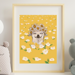 Flower Crown Chihuahua Art Print