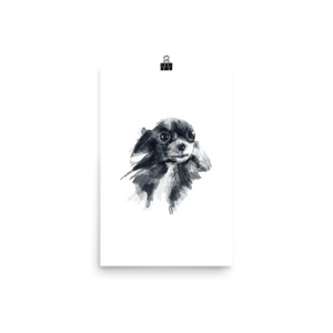 Black & White Painted Chihuahua Art Print - House of Chihuahua