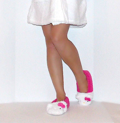f6bd72273 ... Sanrio Hello Kitty ultra soft Sherpa Slippers for Women with 3d ears  and bow, 5