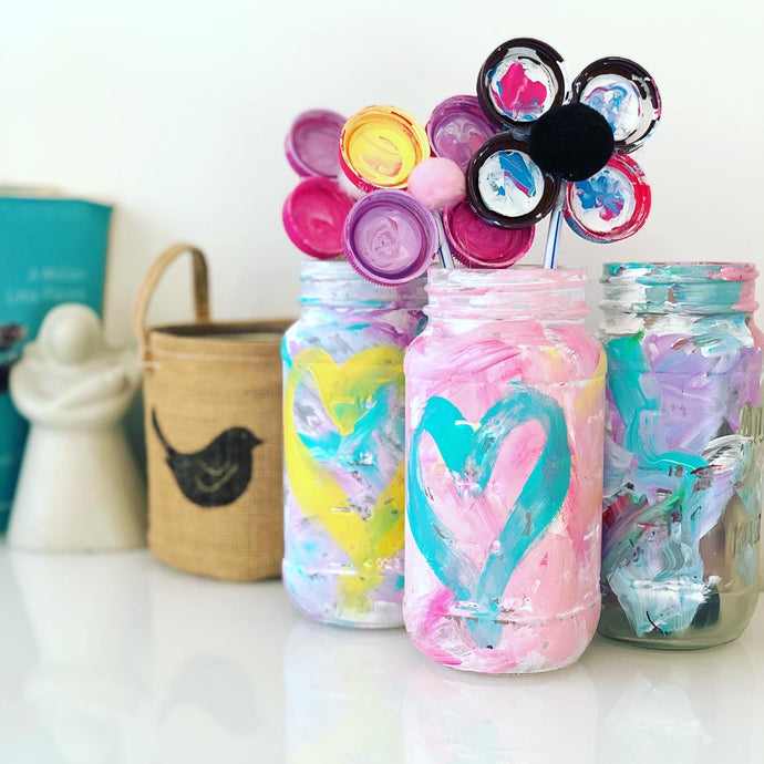 Easy Craft Ideas - DIY Painted Mason Jar Craft
