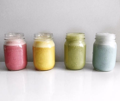 Rainbow Nut Milks: Red, Yellow, Green and Blue