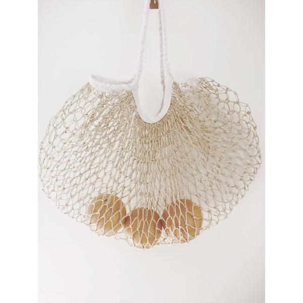 JUTE MACRAME BAG | White/Natural
