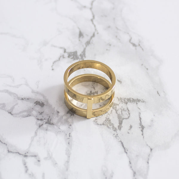 Double Bar Ring - Nowhere Anywhere