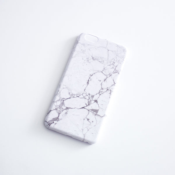 iPhone 6S Plus Glossy Marble Case - Nowhere Anywhere