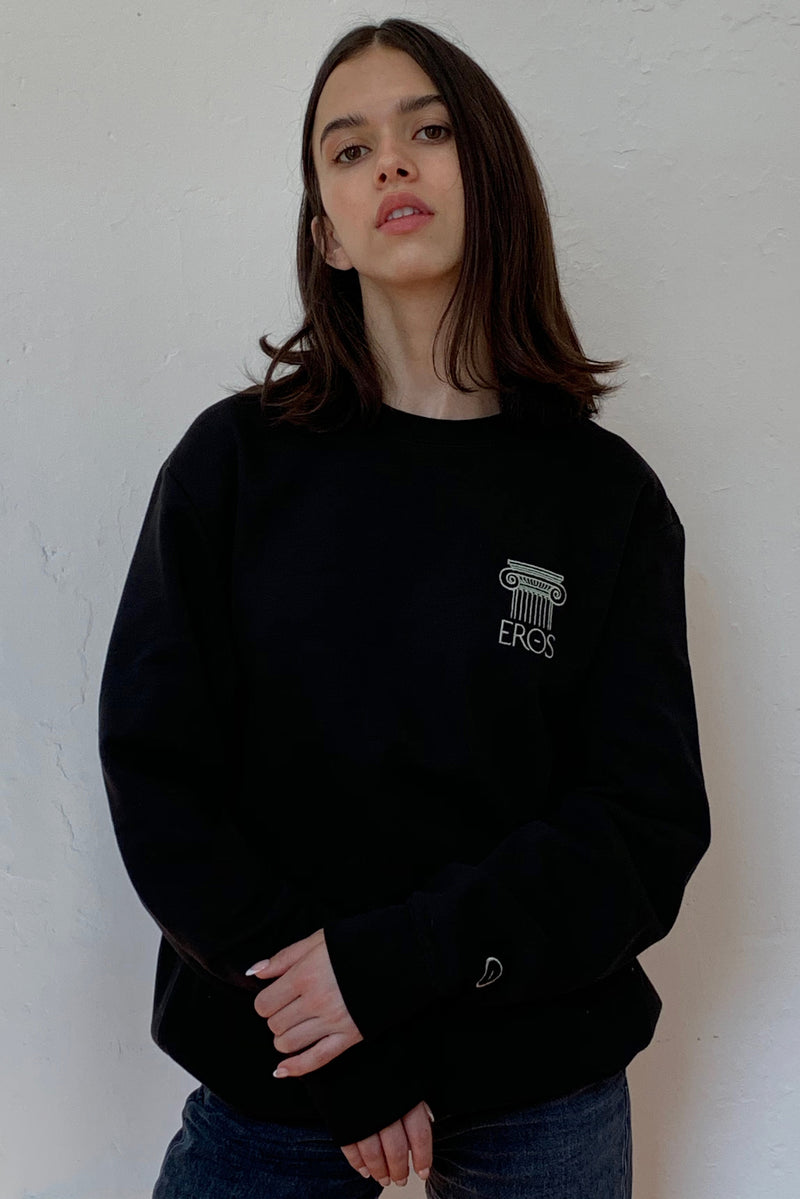 Column Soft Sweatshirt in Black
