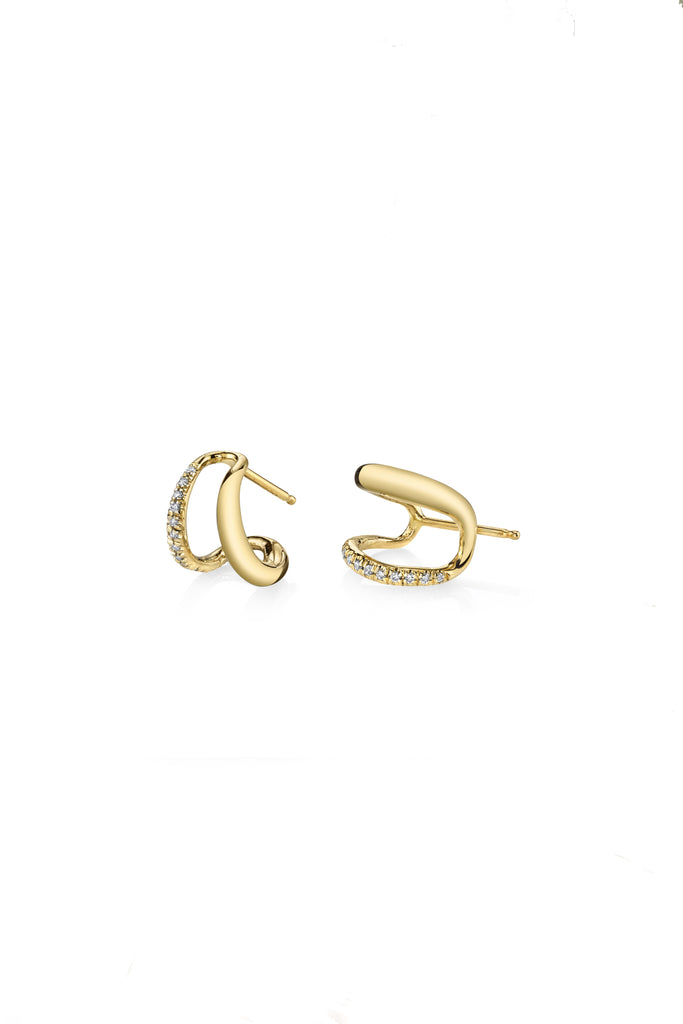 Twin Tusk Pave Earrings