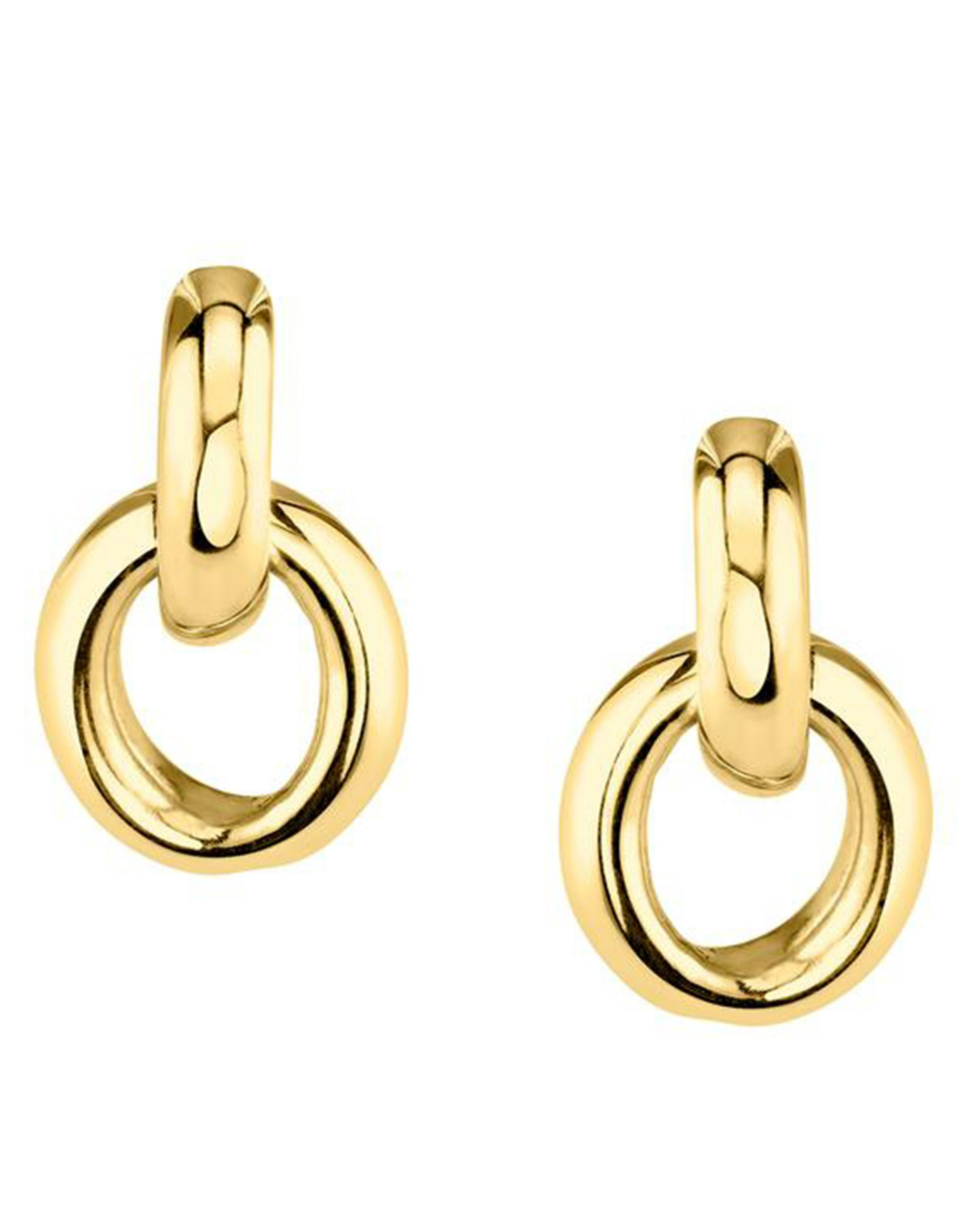 Link Earrings in Yellow Gold Plated