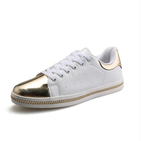 White & Gold Sneaks