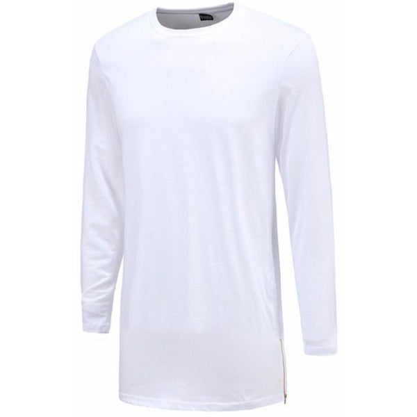 Men's Long Tee White