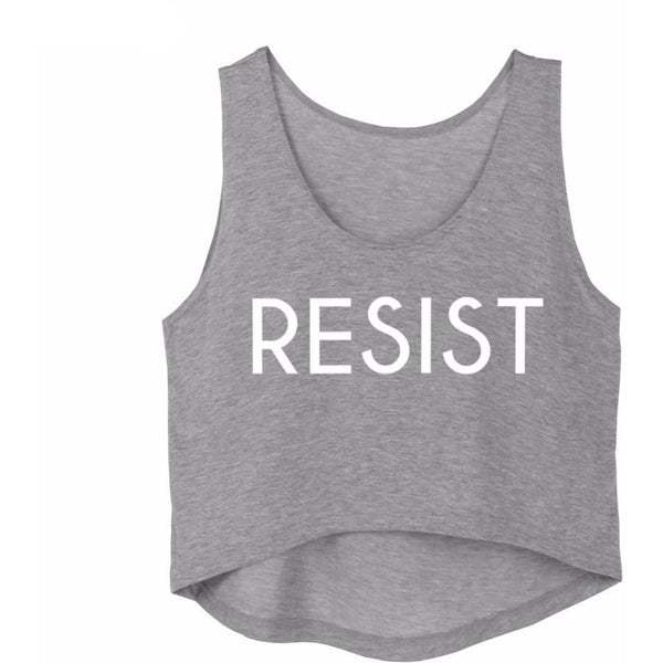 Resist Crop Top Tank
