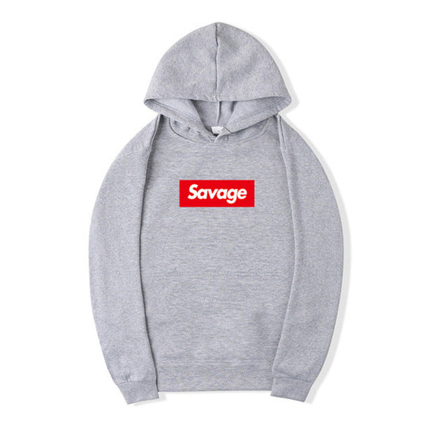 I'm So Savage Light Gray Hoodie