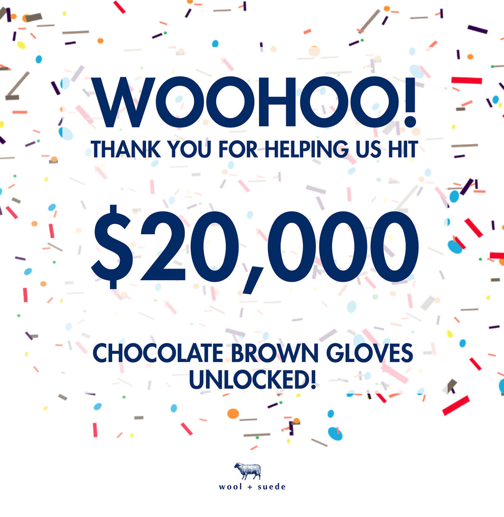 Stretch goal #1 achieved! Chocolate brown is unlocked!