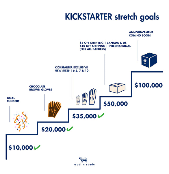 wool + suede - stretch goals